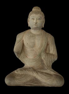 Seated Buddha, Sakyamuni, China, Shanxi province, Tianlongshan, early 8th century, © Harvard Art Museums/Arthur M. Sackler Museum