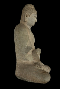 Seated Buddha, Sakyamuni, China, Shanxi province, Tianlongshan, early 8th century, © Harvard Art Museums/Arthur M. Sackler Museum