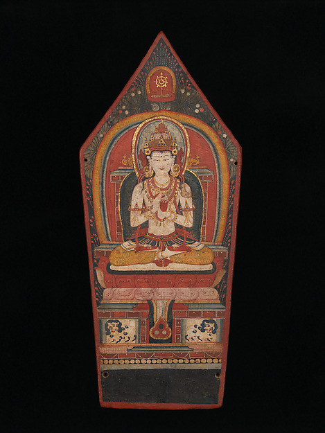 Panel from a Buddhist Ritual Crown Depicting Vairocana, Tibet late 13th–early 14th century © The Metropolitan Museum of Art