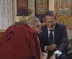 Dalai Lama and Richard Quest of CNN