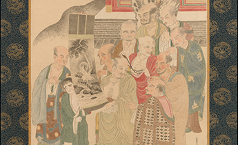 Examining a Painting of White-Robed Kannon © Metropolitan Museum of Art