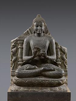 Buddha Preaching the First Sermon at Sarnath. India (Bihar, probably Nalanda), 11th century © The Metropolitan Museum of Art