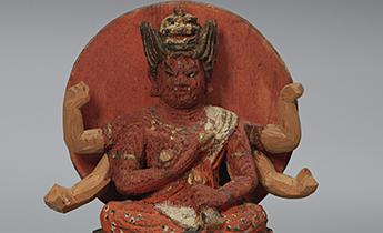 Aizen Myōō (Wisdom King of Passion), Japanese, Kamakura period, 13th century. Wood with polychromy. Harvard Art Museums/Arthur M. Sackler Museum