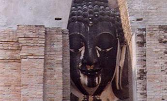 Buddha in rocks