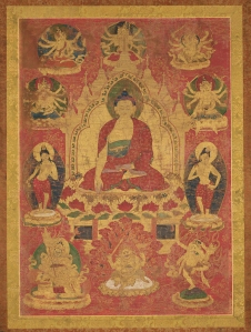 Pancaraksha Mandala with the Buddha Sakyamuni. © President and Fellows of Harvard College