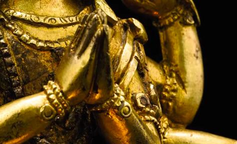 Gesture of reverence, salutation, honour (Namaskara mudra / Anjali mudra)