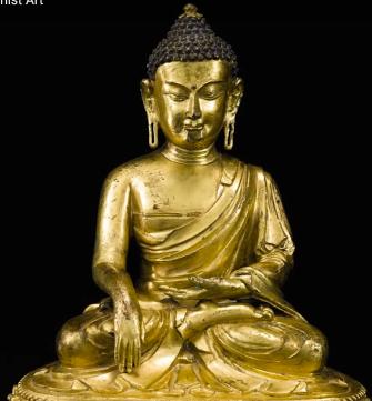 Earth touching posture (Bhumisparsha mudra)