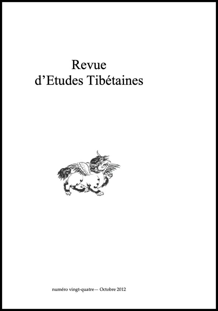 Revue d'Etudes Tibétaines