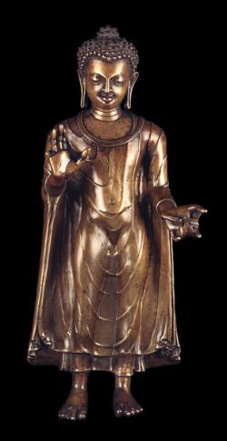 Bronze figure of the Buddha Shakyamuni © The British museum and library